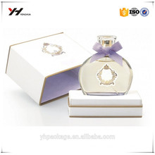 Logo hot stamped luxury perfume box, collapsible paper box for perfume packaging
